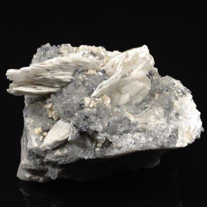 Galènes, quartz et baryte de Mercoirol, Gard, France.