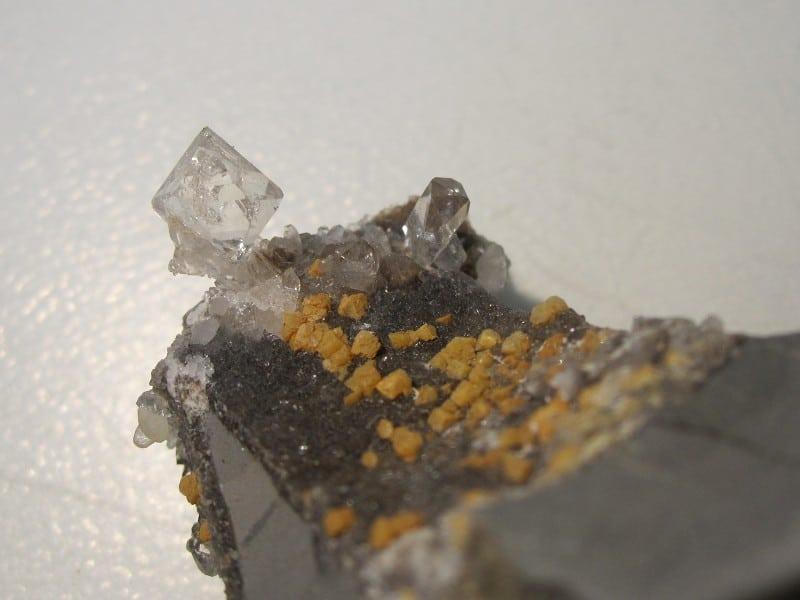 Cristaux sceptre de quartz de septaria, Rémuzat, Drôme.