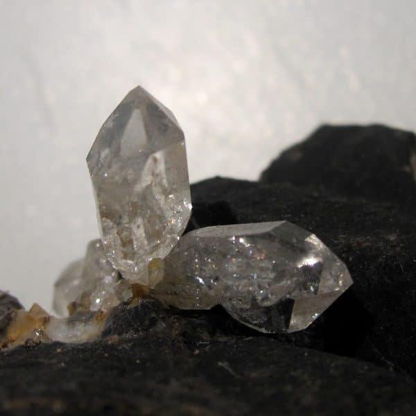 Quartz sceptre de septaria, minéral de Rémuzat, Drôme.