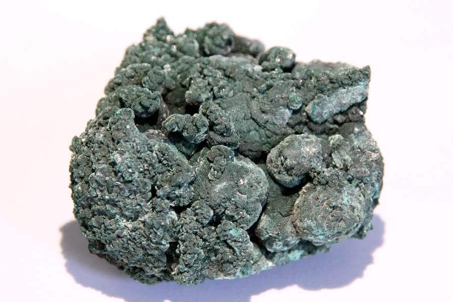 Malachite (pseudomorphose), mine de Tsumeb, Namibie.