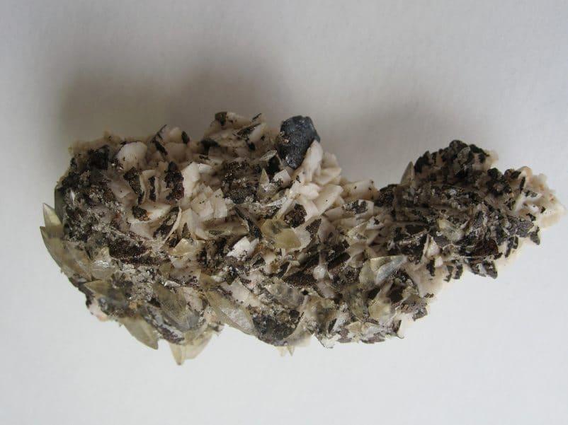 Bournonite, dolomite, calcite, Usclas du Bosc, Hérault.