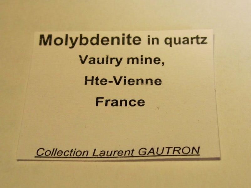 Molybdénite, mine de Vaulry, Haute-Vienne, Limousin.