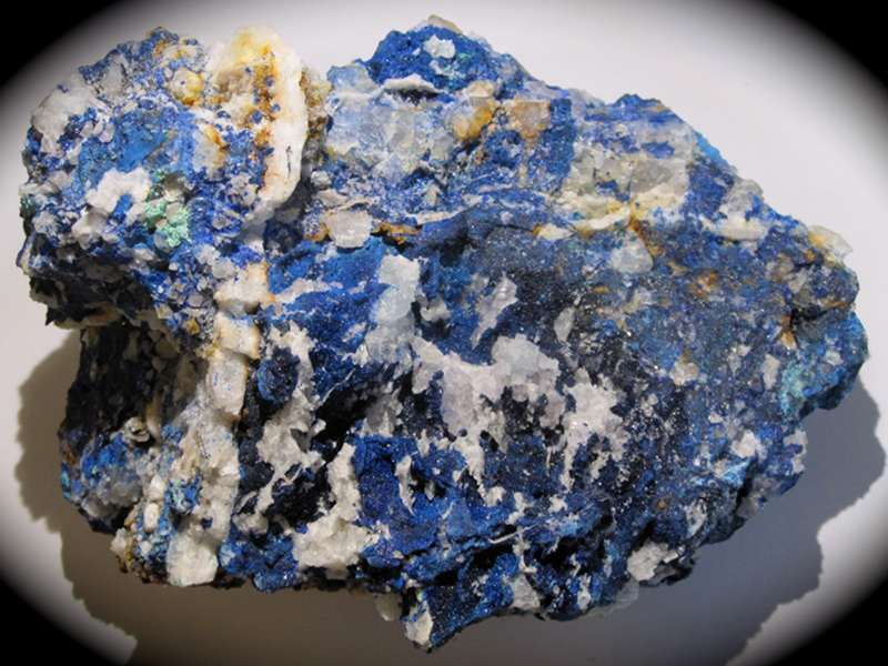 Azurite, mine de Montroc (Mont-Roc), Tarn.