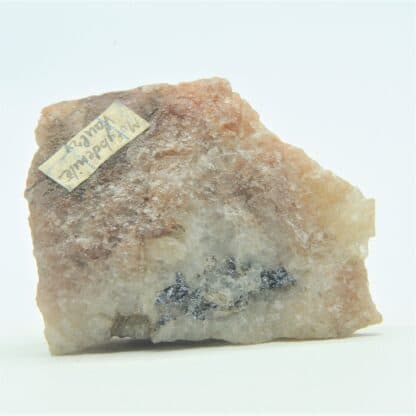 Molybdenite dans Quartz, Mine de Vaulry, Haute-Vienne, Limousin.