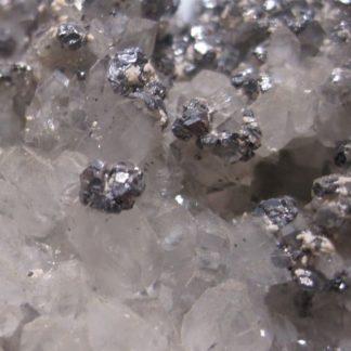 Galène, quartz et barytine de Mercoirol, Gard.