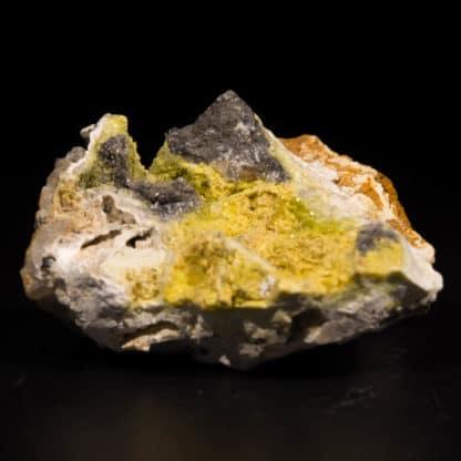 Pyromorphite et Hydroxyapatite, L'Argentolle, Saône-et-Loire, Morvan.