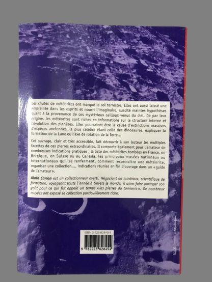 Livre Les météorites et leurs impacts d'Alain Carion.