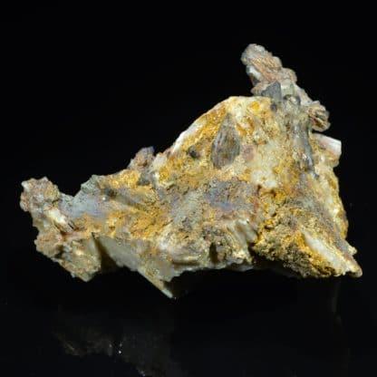 Plumbojarosite et Cérusite, mine du Rossignol, Chaillac, Indre.