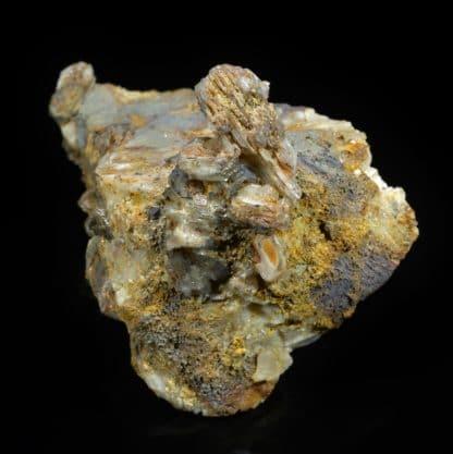 Plumbojarosite et cérusite, Chaillac, Indre.