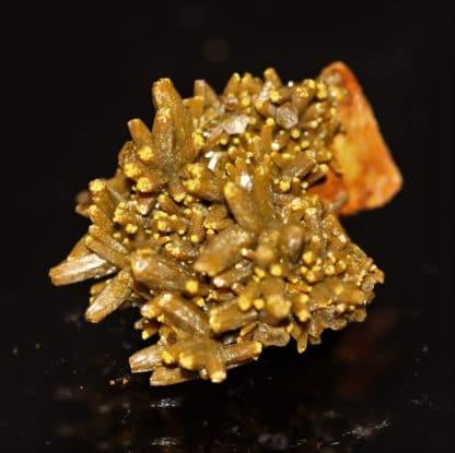 """Pyromorphite en cristaux de type """"Mustard Touch"""" des Farges, Ussel, Corrèze."""