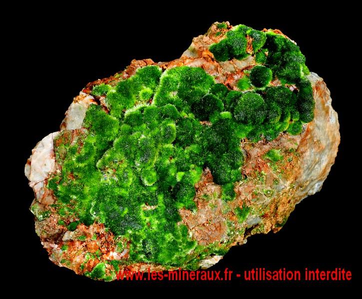Livre sur les cristaux : pyromorphite de la mine Saint Salvy de la Balme dans le Tarn.