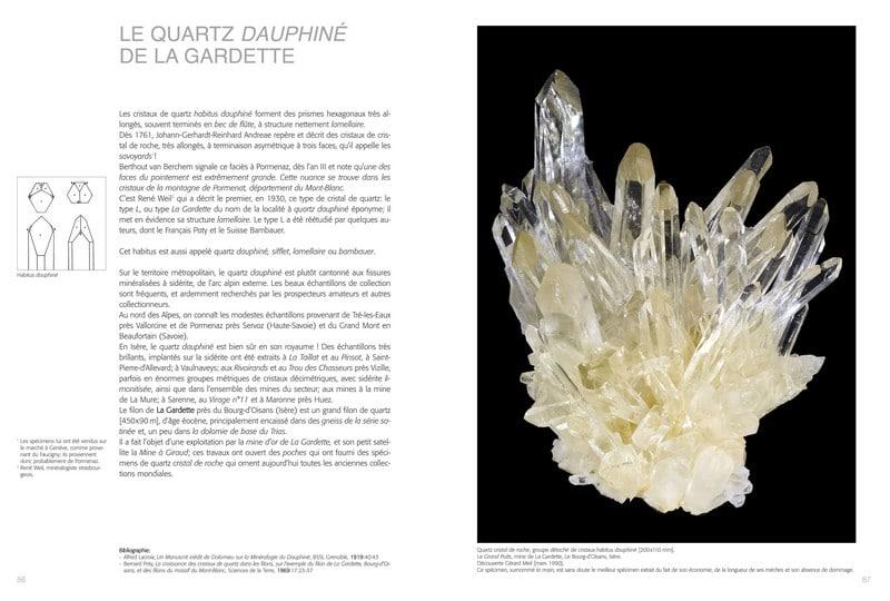 Livre sur les minéraux et cristaux : quartz de la Gardette (Oisans).