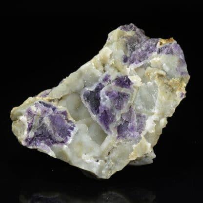 Fluorine violette et quartz, Moustier-Ventadour, Corrèze.