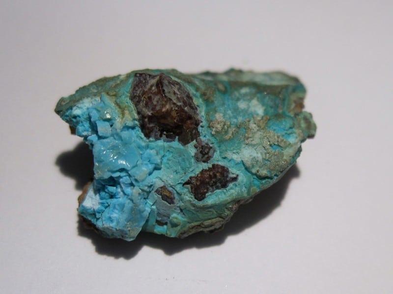 Allophane, mine du Chipal, La Croix aux Mines, Vosges.