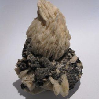 Barytine et marmatite (sphalérite), Saint-Laurent-le-Minier, Gard.