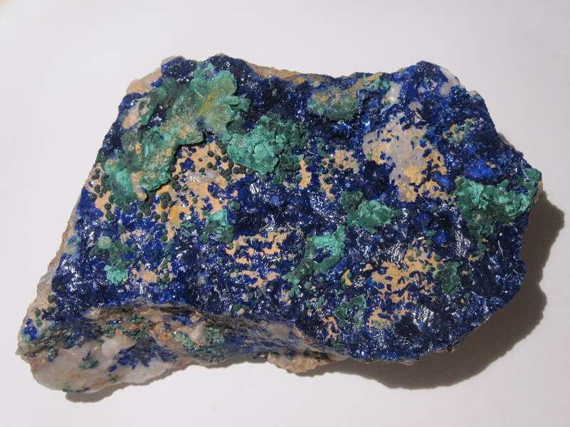Azurite, malachite, mine de La Garonne, Var.
