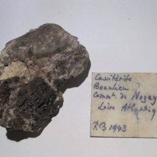 Cassitérite, mine d'Abbaretz, Beaulieu, Nozay, Loire-Atlantique.