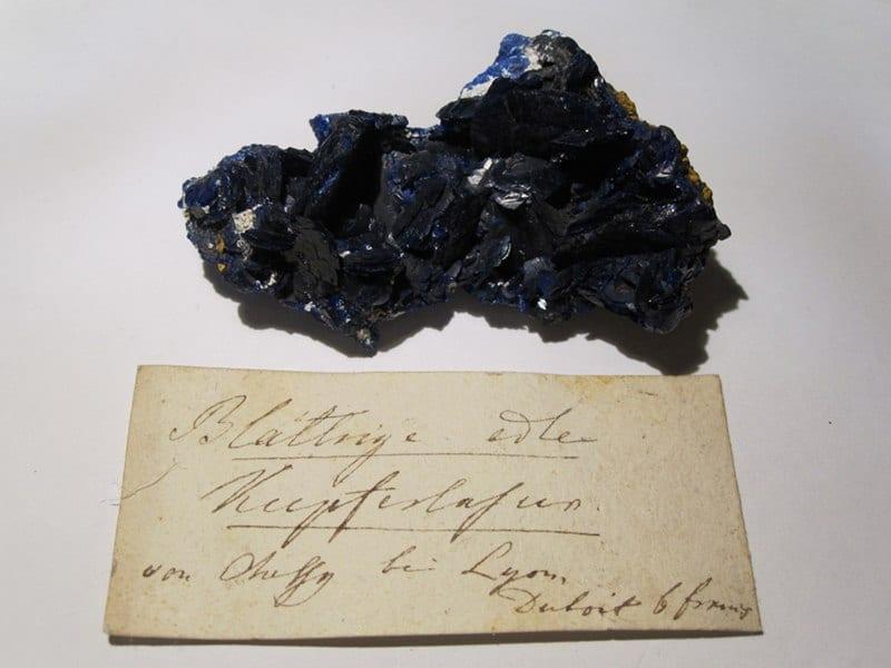 Azurite de la mine de Chessy à Chessy-les-Mines (Rhône).