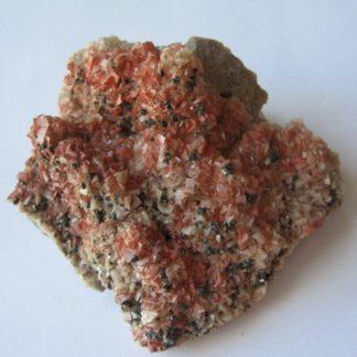 Cinabre, tétraédrite et dolomite, Usclas-du-Bosc (Loiras), Hérault.