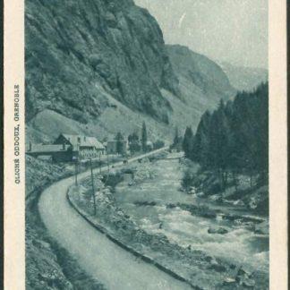 """Carte Postale Ancienne (CPA) : """"La Romanche aux mines d'Argentières, la mine du Grand-Clos""""."""