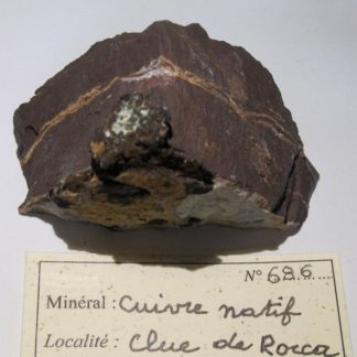 Cuivre natif de la Clue de Roua, gorges de Daluis, dôme de Barrot, Var.