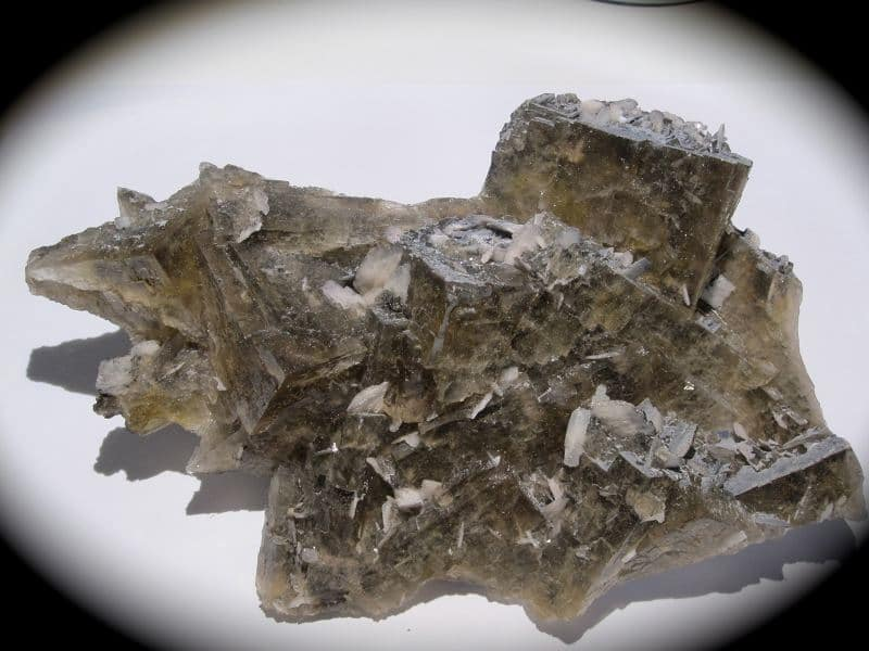 Fluorine et barytine, Le Rossignol, Chaillac, Indre.