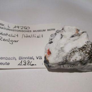 Hatchite et wallisite, Lengenbach, Binntal, Valais, Suisse.