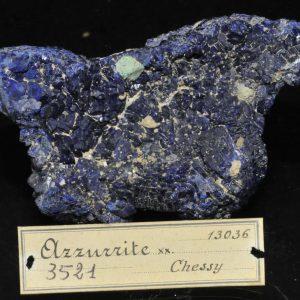 Azurite et cuprite de la mine de Chessy à Chessy-les-Mines (Rhône).