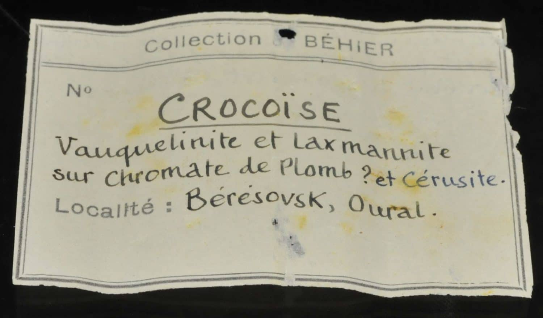 Crocoïte, embreyite et vauquelinite de Beresovsk (Ekaterinburg - Russie).