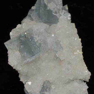 Cristaux de fluorine bleue de la mine du Burc (Burg - Tarn).
