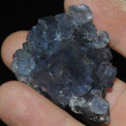 Fluorite bleue de la mine de Montroc (Tarn).