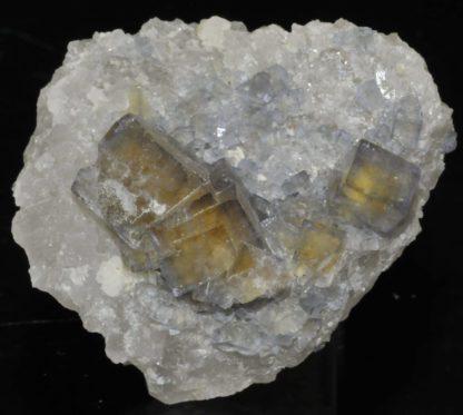 Fluorite en cristaux avec fantômes de la mine du Burc (Burg - Tarn).