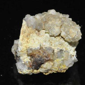 Galène avec quartz, pyromorphite et Lead hydroxyapatite de l'Argentolle (Saône et Loire).