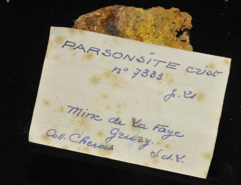 Parsonsite de la mine de la Faye à Grury (Saône-et-Loire).
