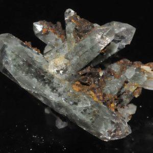 Cristaux de quartz fantôme des Enclaves dans le Beaufortain en Savoie.