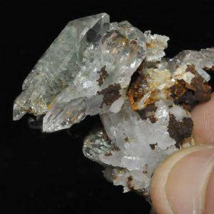 Cristaux de quartz fantôme des Enclaves près de Beaufort en Savoie.