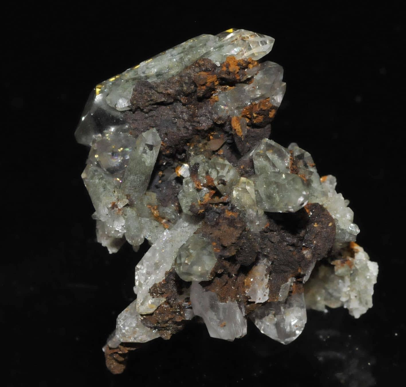 Cristaux fantômes de quartz des Rochers des Enclaves près de Beaufort en Savoie.