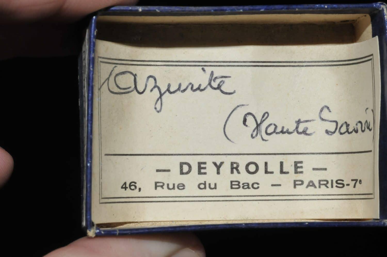 Azurite de Haute Saône (ex Deyrolle).