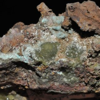 Aurichalcite de Grèce (ex Deyrolle).