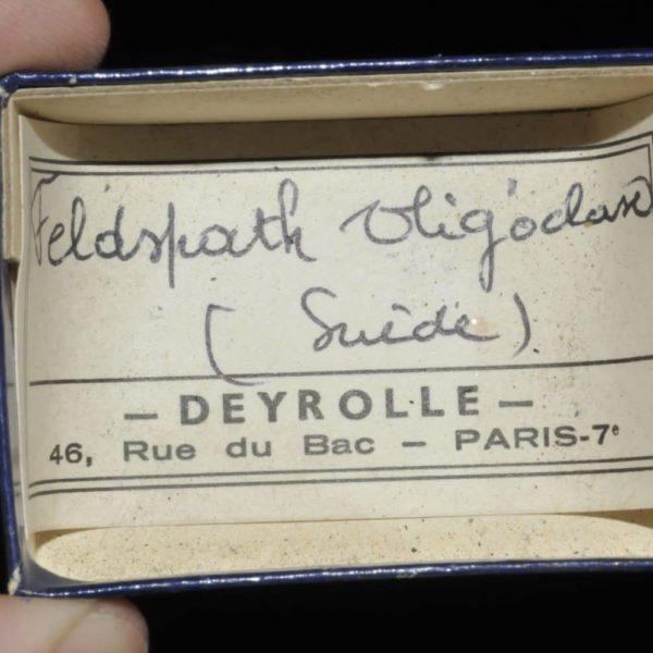 Feldspath oligoclase de Suède (ex Deyrolle).
