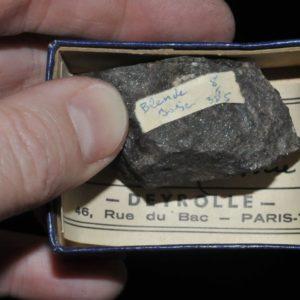 Blende (sphalérite) de l'Isère (ex Deyrolle).