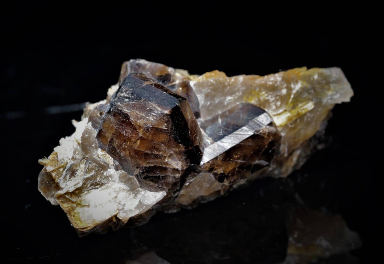 Cassitérite sur gangue, Mine de La Villeder, Roc Saint André, Morbihan