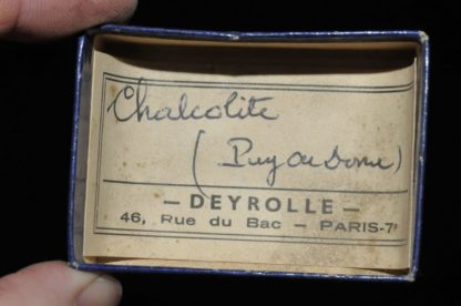 Chalcolite (torbernite) du Puy de Dôme (ex Deyrolle).