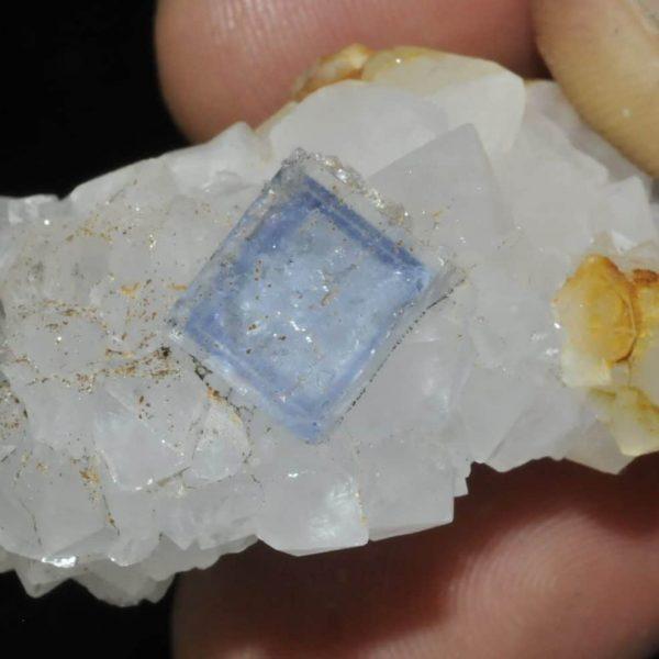 Fluorite bleue et quartz de la mine du Burc (au Burg, Tarn).