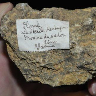 Minerai de plomb (galène) de la société Vieille Montagne de Nador (Algérie).