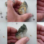 Nettoyage d'un quartz de Petit Mars (Loire-Atlantique)