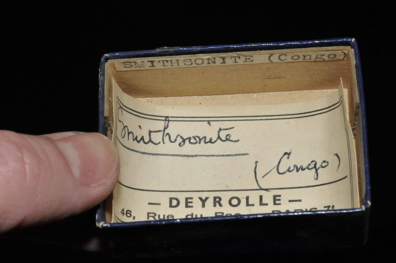 Smithsonite du Congo (ex Deyrolle).