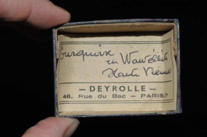 Turquoise et wavellite de Haute-Vienne ( ex Deyrolle).
