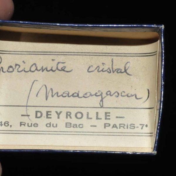 Thorianite de Madagascar (uranifère, ex Deyrolle).