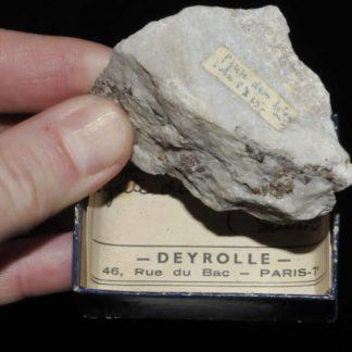 Pyrite dans dolomie du Binntal en Suisse (ex Deyrolle).